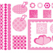 Stock Vector: Design elements for scrapbooking