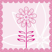 Card with flower — Stock Vector