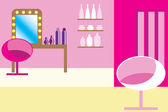Glamour pink hairdressing salon — Stock Vector