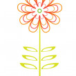 Stock Vector: Vector flower