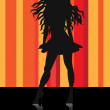 Stock Vector: Disco girl