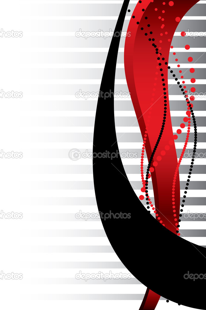 Red and black lines — Stock Vector #1694993