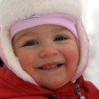 Winter portrait of little girl - Stok fotoğraf