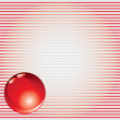 Red background with glass ball — Stock Vector