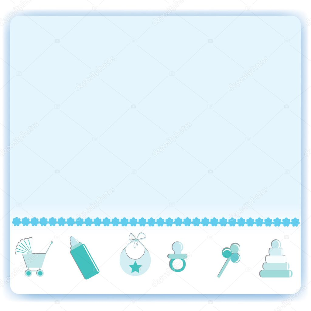 Baby boy arrival card vector by leonart image 600444 vectorstock - Baby Boy Card Stock Vector Ikaruska 1889121 Wallpaper Gallery Baby Boy Shower