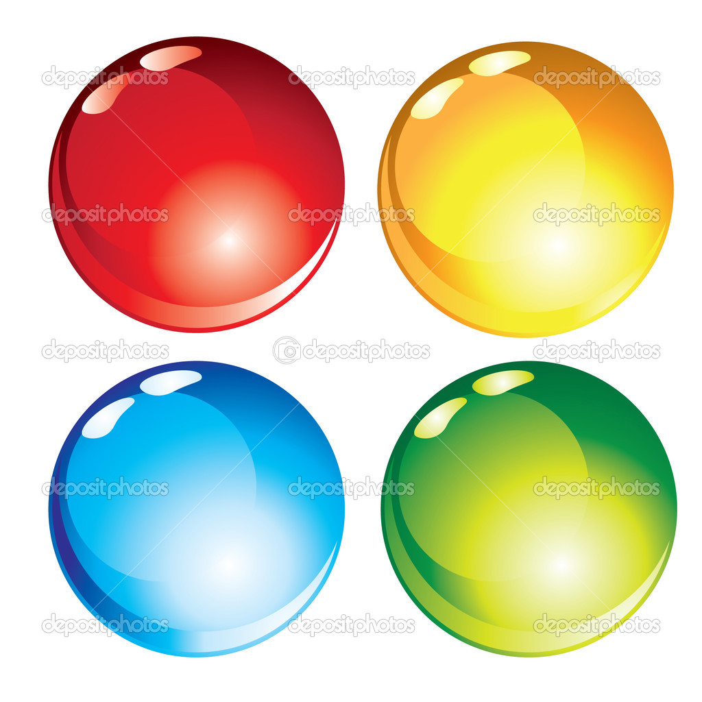 Vector glossy buttons  Stock Vector #1889132