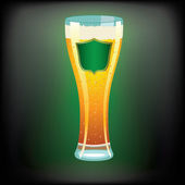 Vector illustration of a beer glass — Vector de stock