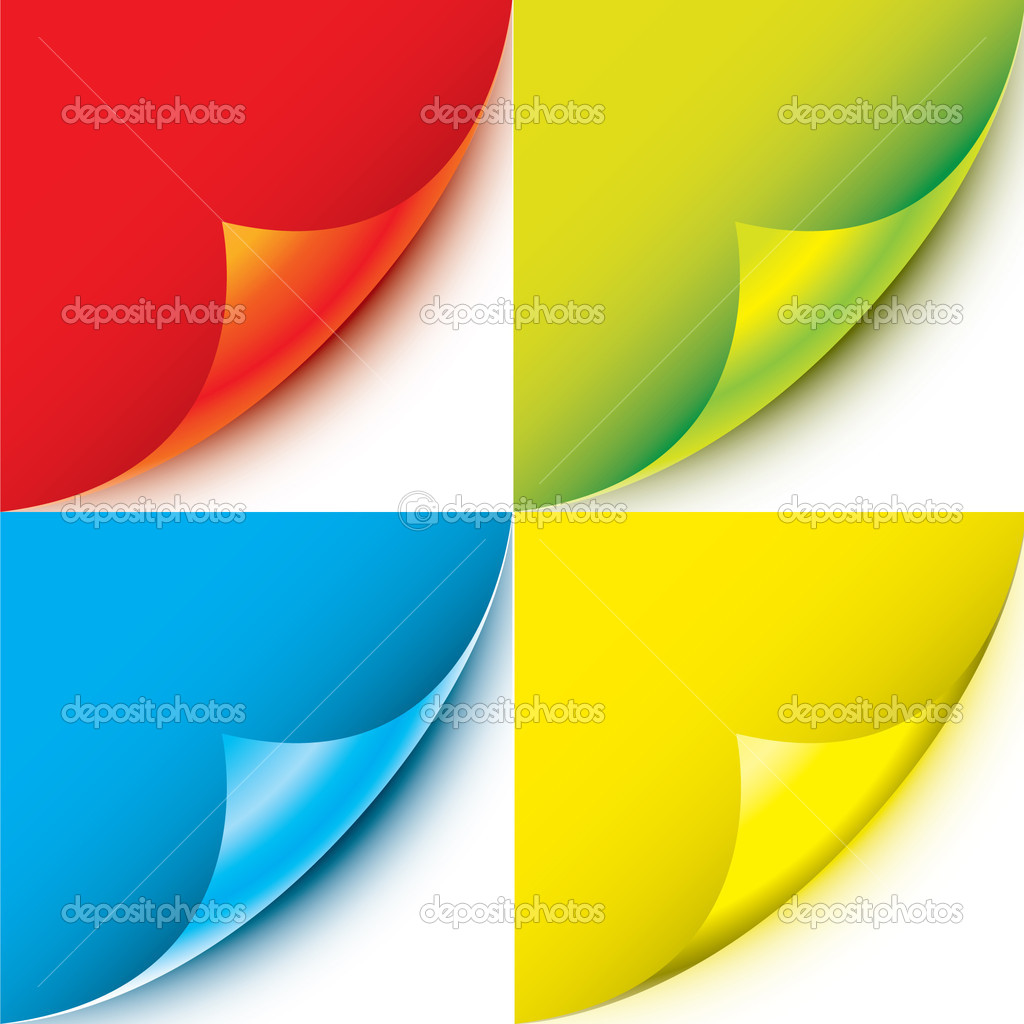 Set of vector page corners — Stock Vector #2449976