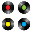 Set of vinyl records — Stock Vector