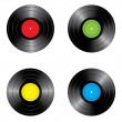 Set of vinyl records — Stock Vector #2450025
