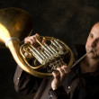 Trumpet player — Stock Photo #1058996