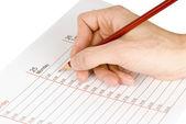 Tomar notas de empresário — Foto Stock