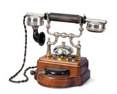 The old-fashioned retro telephone — Stock Photo