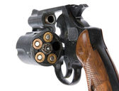 Revolver with bullets — Stock Photo