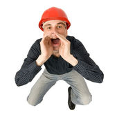 Worker screaming — Stock Photo