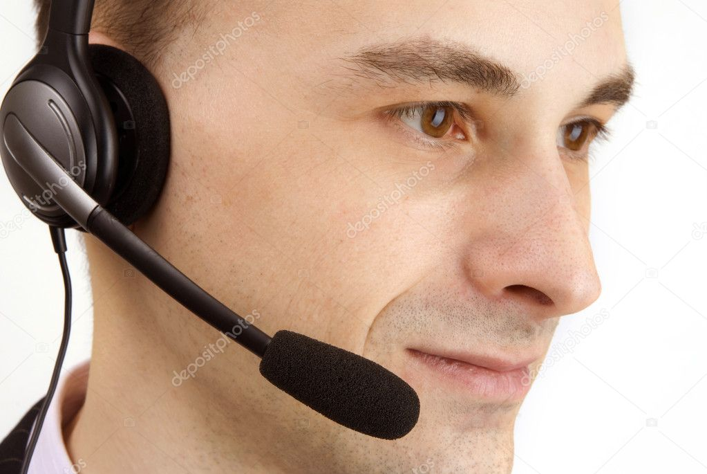 Portrait of customer service agent — Stock Photo #1050378