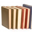 Old books in a row — Stock Photo