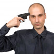 Royalty-Free Stock Photo: Put a pistol to head