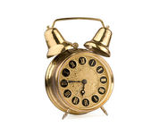 Old antique alarm clock — Stock Photo