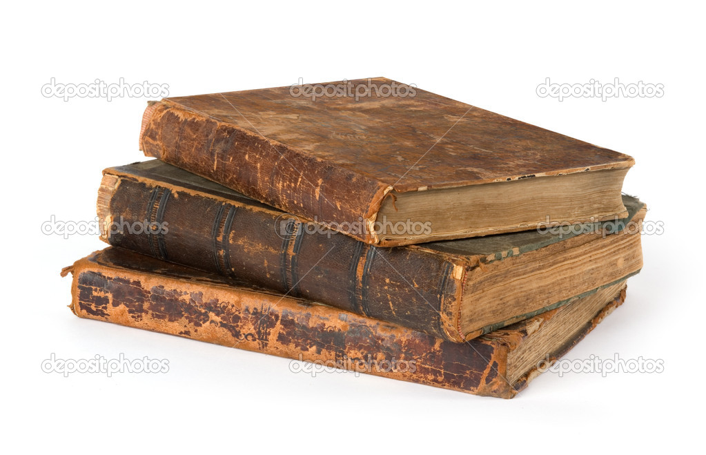 Stack of old Books Isolated on a White Background — Stock Photo #1060292