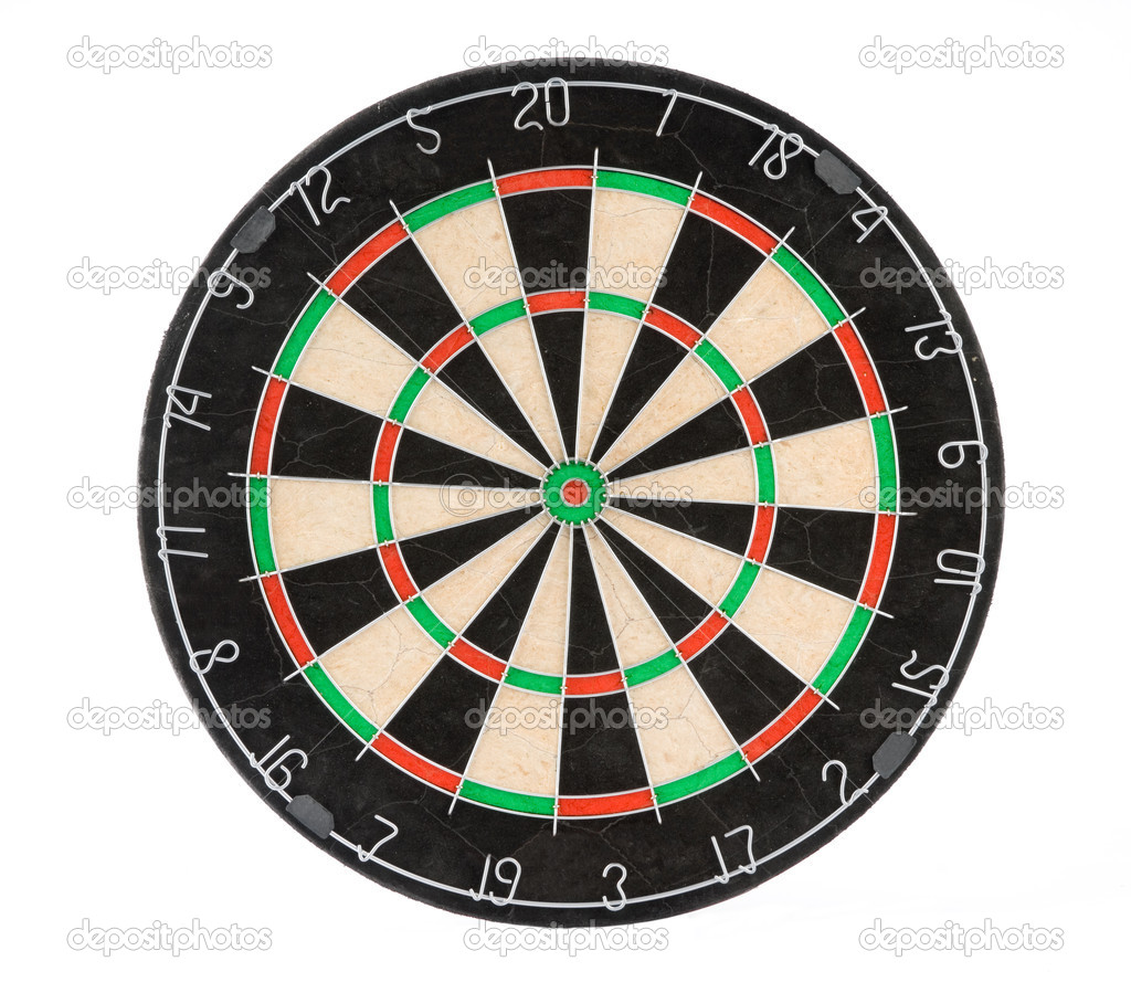 Dart board isolated on white — Stock Photo #1061477