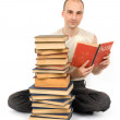 Man with books — Stock Photo