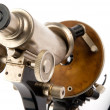 Old microscope closeup — Stock Photo