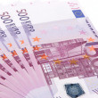 Royalty-Free Stock Photo: Euro banknotes, close-up