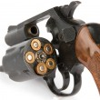 Stock Photo: Revolver with bullets