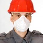 Man in helmet — Stock Photo