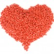 Plastic red heart — Stock Photo