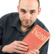 Man with book — Stock Photo #1075390