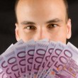 Man Holding Money — Stock Photo