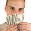 Man Holding Money — Stock Photo #1075611