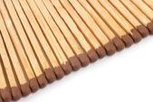 Matches close up on white background — Stock Photo