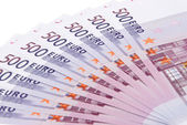 Euro banknotes, close-up — Stock Photo