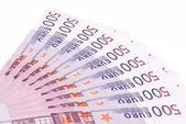 Five hundred Euro banknotes — Stock Photo