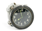 Old mechanical airborne clock — Stock Photo