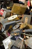 Pile of padlocks — Stock Photo