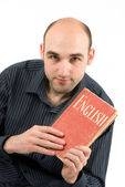Man with book — Stock Photo