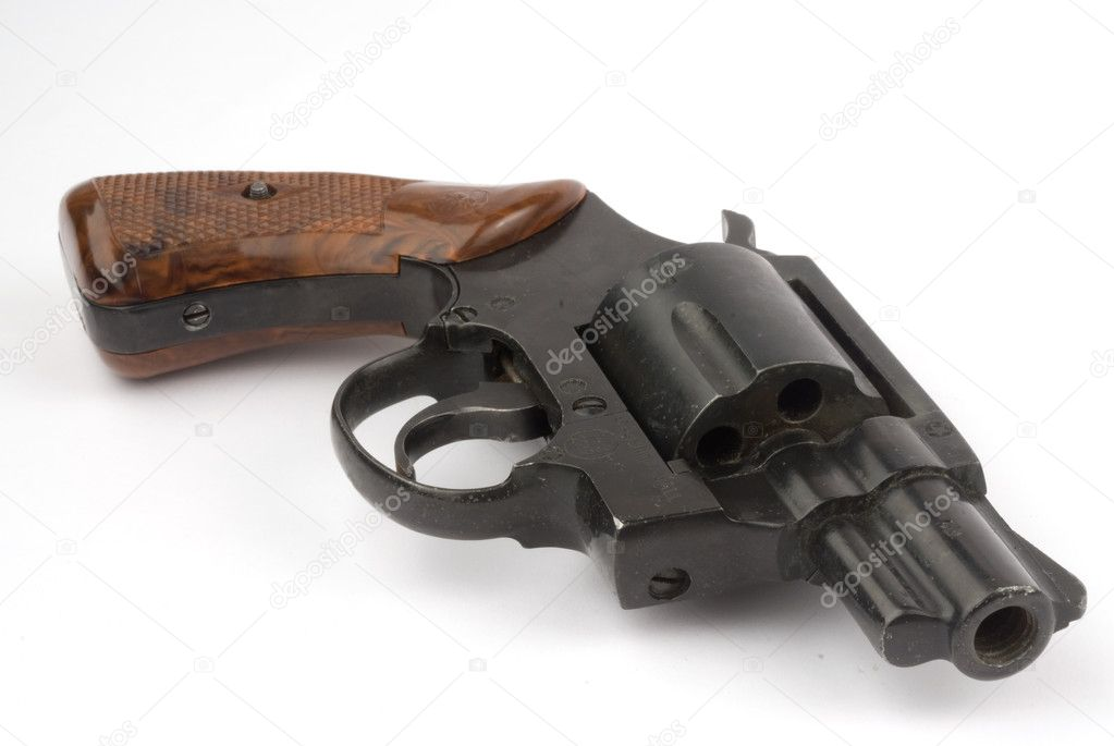Revolver Gun isolated on white — Stock Photo #1072527