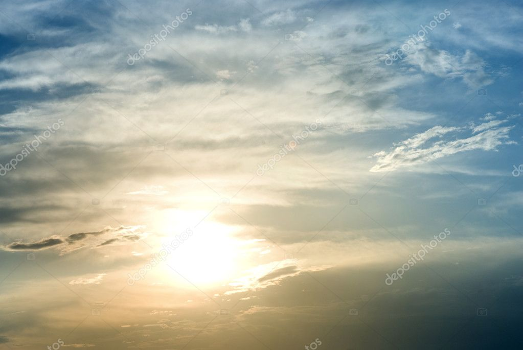 Sunny sky background  Stock Photo #1072587