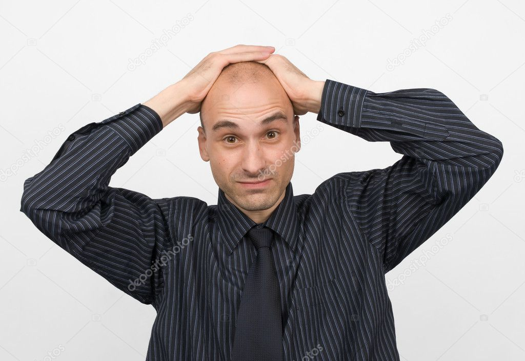 Stressed young business man — Stock Photo #1073190