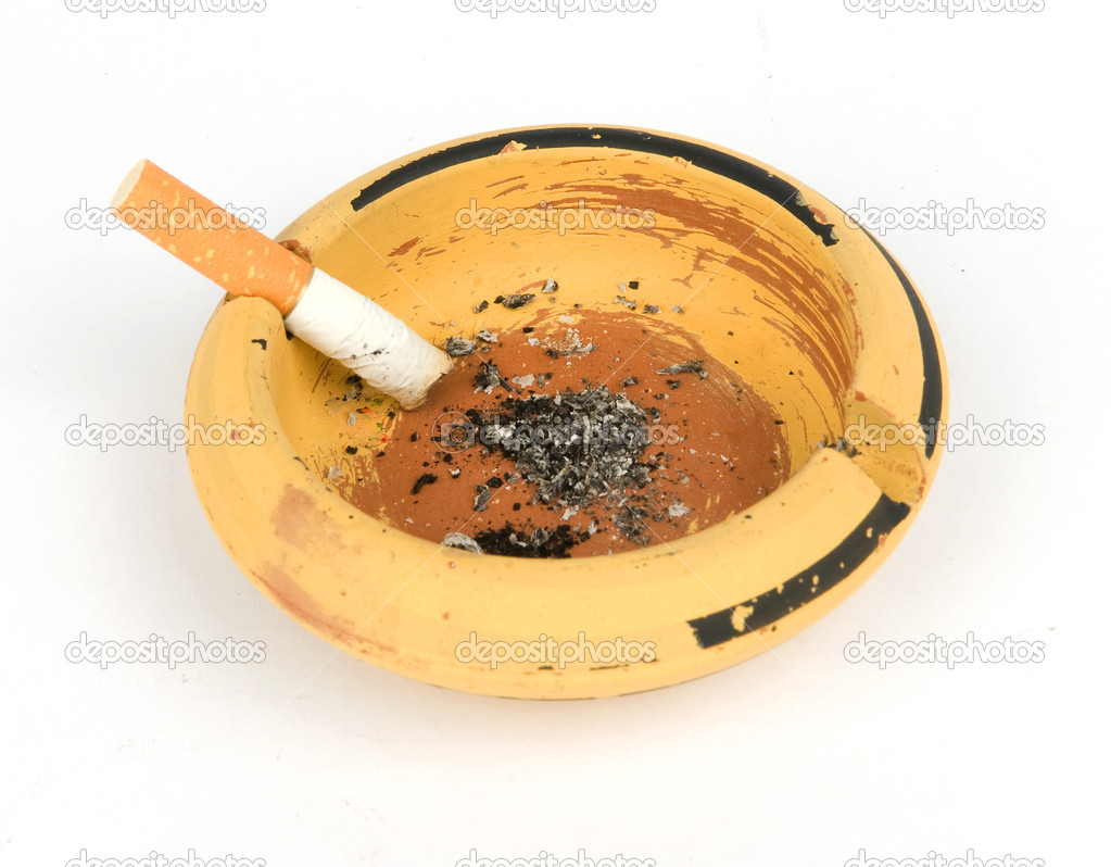 Ash tray isolated on white  Stock Photo #1075986