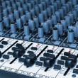 Stock Photo: Audio mixing board