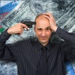 Put a pistol to head - Foto Stock