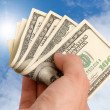 American dollars in a hand — Stock Photo