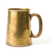 Old brass cup — Stock Photo