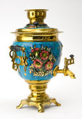 Samovar - old russian teapot — Stock Photo