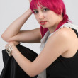 Royalty-Free Stock Photo: Pink hair young woman